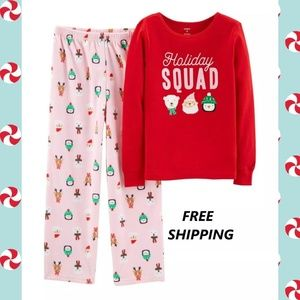 Carter's 2-pc. Holiday Squad Pajama Set - Girls 5
